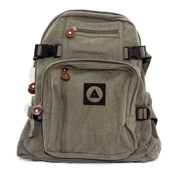 Backpack Bauhaus Eye, Canvas Backpack, Rucksack, Travel Backpack, Bag, Small Backpack, Weekender Bag, Men's Backpack, Women's Backpack