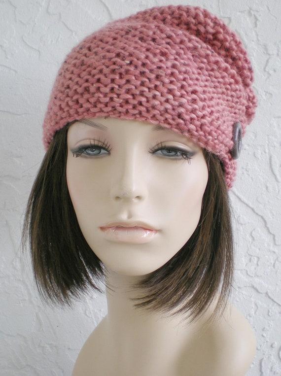 hand knit hat turban hat cloche hat alpaca salmon