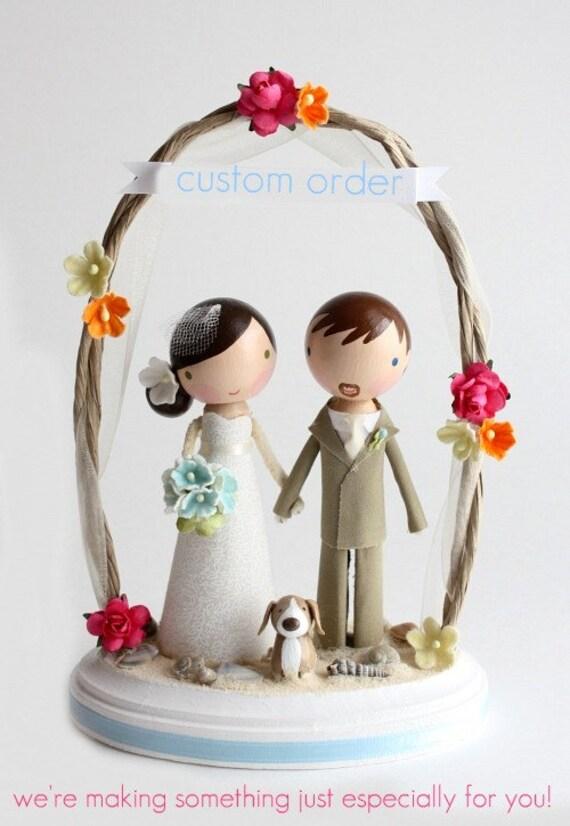 custom wedding cake topper - order for - DIVYA