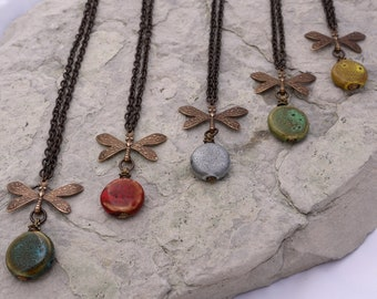 Dragonfly in Vintage Porcelain - 5 choices