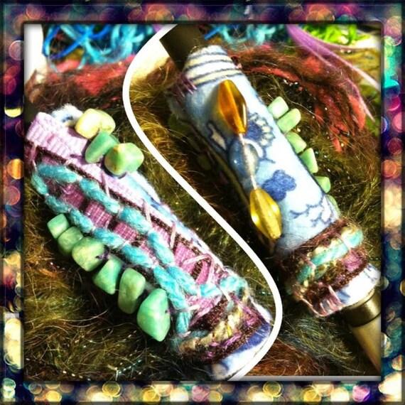 aquamarine sparkle dread bead for your lovely locks