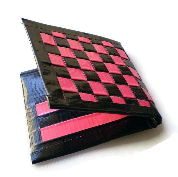 Duct Tape Wallet - Pink & Black