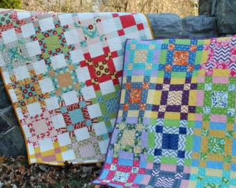 PDF Baby, Lap or Twin QUILT PATTERN...., Layer Cake, Fat Quarter and Fat Eighth friendly, Crossroads