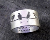 Hand Stamped Mother's Ring by donnaodesigns