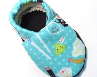 Sushi Soft Soled Baby Shoes 6-12 mo