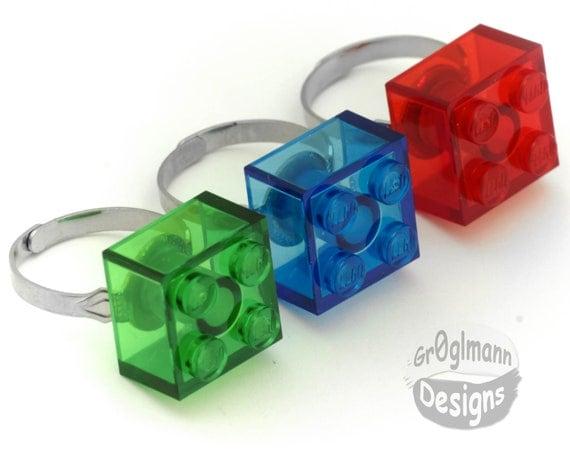 lego plastic block ring
