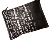 SALE 25% OFF- Cute Pouch made of Reclaimed Leather