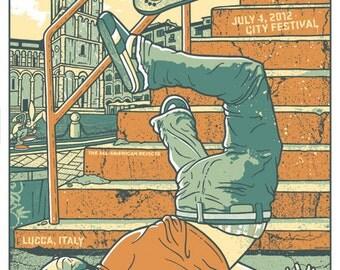 Blink 182 Skateboard Epic Fail Tom DeLonge Mark Hoppus Travis Barker Silk Screen Rock Poster Blink182 - Etsy