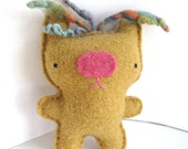 Mustard Yellow Bear - Recycled Wool Plush Toy