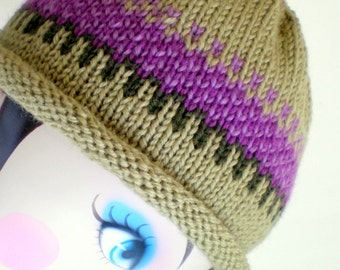 Women Knit Cloche Wool Hat - Liliac Field