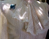 Pure as Snow vintage ivory lace blouse with ascot