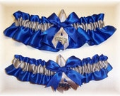 Orlando Magic Wedding Garter Set with Charms     Handmade  Keepsake and Toss   Satin RS
