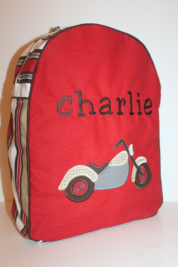 Red, Brown, White, Houndstooth, Stripe Children's Backpack