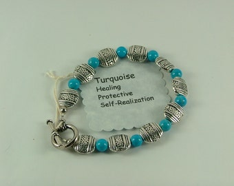Turquoise and Silver Bracelet-B10