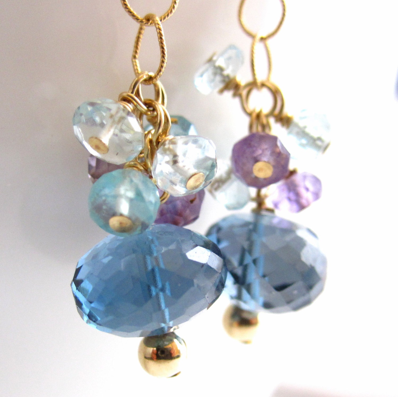 london blue topaz melange earrings. Black Bedroom Furniture Sets. Home Design Ideas