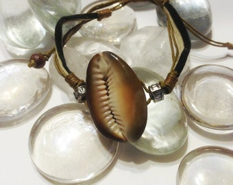 SALE  50% OFF     Cowrie Shell Adjustable Bracelet..Free Shipping