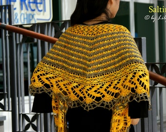 Saltire Crocheted Shawl in PDF File