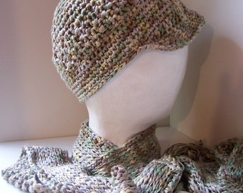 Tunisian Crochet Hat and Scarf