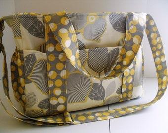 Diaper bag - Amy Butler Optic Blossom - Extra Large Diaper Bag - Tote Bag - Messenger Bag - Diaper Bag - Amy Butler Diaper Bag