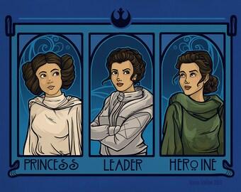 Princess. Leader, Heroine Small Print (Item 03-061-AA)