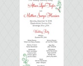 Christmas Mistletoe Wedding Programs