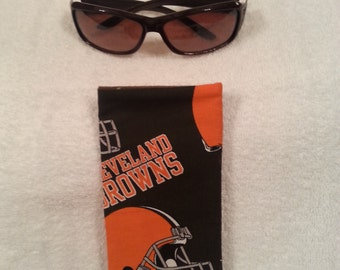 Cleveland Browns Fabric Eye Glass Case (Sunglasses NOT included)