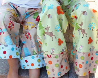 Camping Is Fun Wide Leg Lounge Pants for Babies and Toddlers Boys or Girls by babe-a-gogo