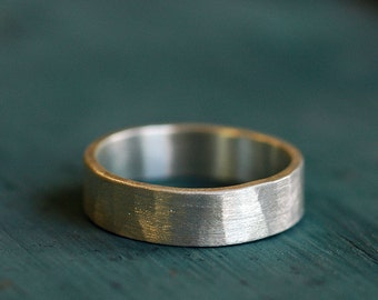Wedding Band - Wedding Ring - Hammered Band - Wedding Band Ring - Unisex Wedding Ring -  Rustic Wedding Ring - Mens Wedding Ring R4056