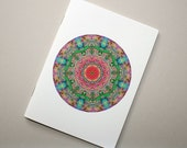 Marbled Paper Mandala Design Notebook no. 12