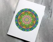 Marbled Paper Mandala Design Notebook no. 22