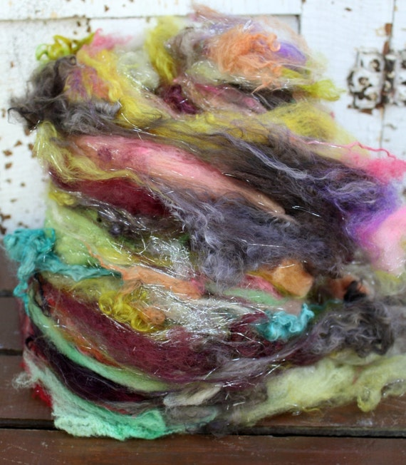 cobbler batt - fiber art batt for spinning and felting