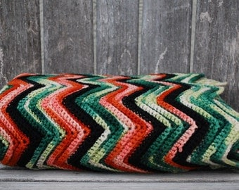 Vintage Afghan Blanket Throw
