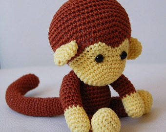 Amigurumi Crochet Monkey Pattern - Johnny the Monkey - Softie - Plush