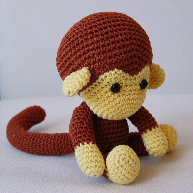 Amigurumi Free Pattern Italiano : Amigurumi Crochet Monkey Pattern Johnny the Monkey Softie