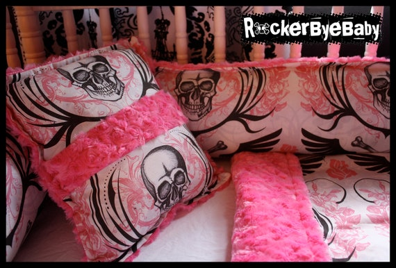 Items Similar To Custom Punk Baby Crib Bedding Set You
