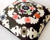 "Brightly Colored Decorative Pillow Cover - Cushion Cover - Graphic Pop - Floral - Multicolor - 16"" x 16"""