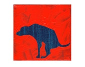Posturing Dog Pooping - Childrens Art Print