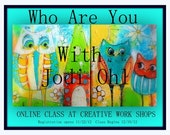 Who Are You Open Ended Online painting workshop How to Paint Funky Owls and Houses Class by Jodi Ohl