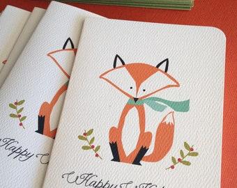Holiday Fox- set of 6 Christmas greeting cards