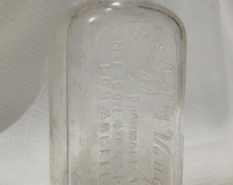 Antique, Los Angeles California Medicine Bottle (Clear571)