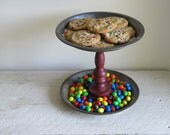 Upcycled Vintage Pie Pan Serving Display Stand