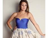 STAR WARS Baby Doll Dress Vintage Handmade Blue BOW