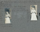 vintage photo 1903 page from Diary Photo album front and back of lady