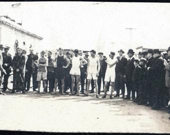 vintage photo 1910 Mens Footrace TRack Meet