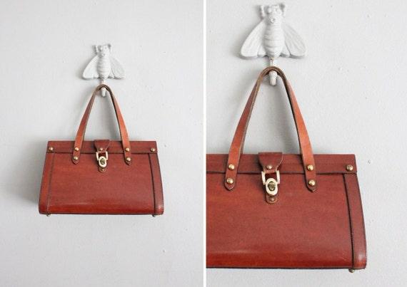 1960s vintage John Romain leather handbag