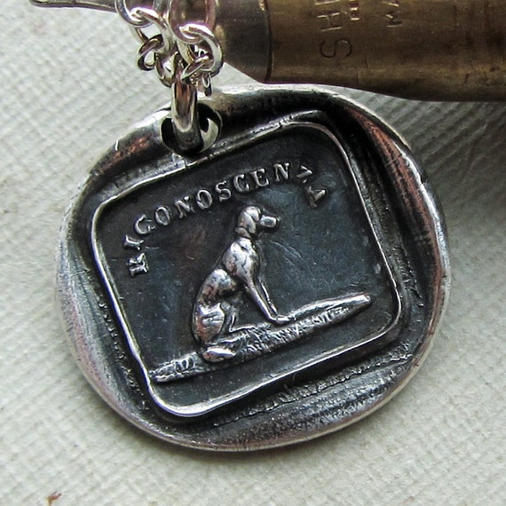 Dog Wax Seal Necklace - symbolic of gratitude, thankfulness & acknowledgment  IS240
