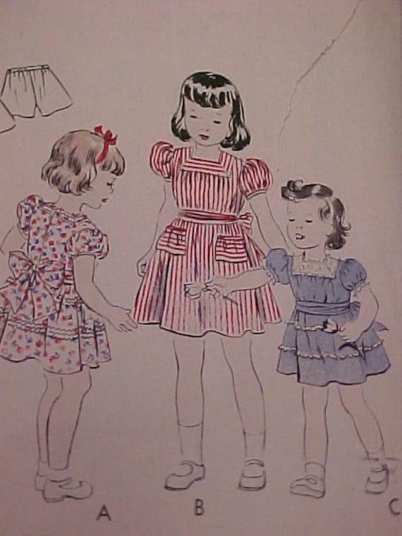 Vintage VOGUE Pattern Girl sz 6