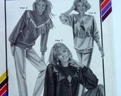 Stretch & Sew 398 Southwestern Pullovers Master Sewing Pattern , Uncut 1990  Bust sizes 30 - 46