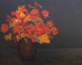 Original Painting, Still Life in Red, 18 X 24