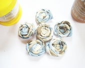 DOLLAR Deals - 6 Rolled Fabric Flowers - PIF - Embellishments,Brooch/Pins,Jewelry,Hair Accessories,Cards,Scrap booking,Ect.